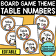 EDITABLE TABLE NUMBERS for BOARD GAME THEME by CLUTTER FREE CLASSROOM