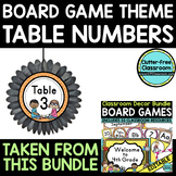 EDITABLE TABLE NUMBERS for BOARD GAME THEME by CLUTTER FRE