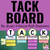 TACK Board for the Ontario Mathematics Classroom