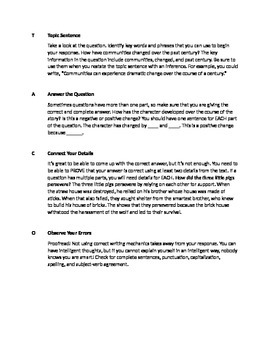 T.A.C.O. Strategy for Writing Constructed Responses