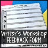 Peer Feedback Form - Writer's Workshop