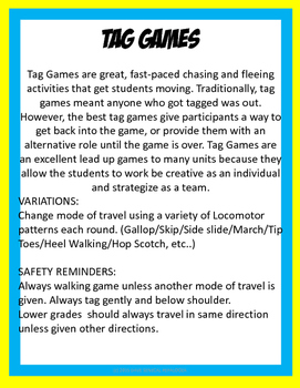 TAG GAMES FOR LARGE GROUPS BUNDLE