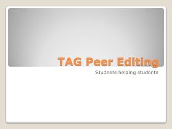 TAG Peer Editing Method for Writing