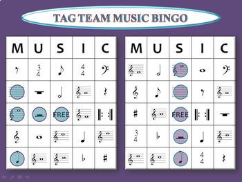 Tag Team Music Bingo