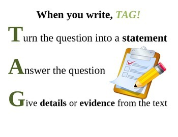 TAG Writing prompt poster