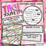 TAG You're It!!! {EDITABLE Desk Name Tags}