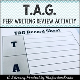 """""""TAG! You're It!"""" Writing Peer Review Activity"""