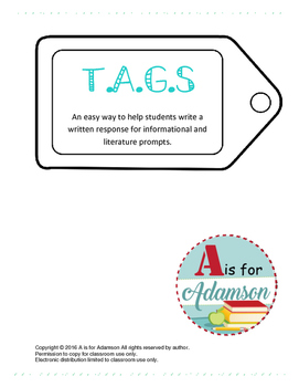 TAGS Writing Prompt