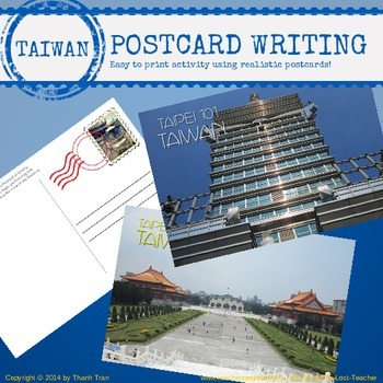 TAIWAN - Postcard Writing Activity