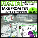 TAKE FROM TEN OR COUNTING UP STRATEGY DIGITAL/PRINTABLE TA