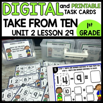 TAKE FROM TEN Practice DIGITAL TASK CARDS | PRINTABLE TASK CARDS
