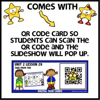TAKE FROM TEN Practice DIGITAL TASK CARDS   PRINTABLE TASK CARDS