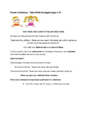 TAKE-HOME STRATEGIES: Following Directions (Ages 4 -6 years)
