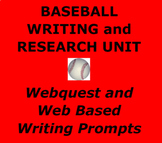 BASEBALL WRITING:  Baseball Themed Writing and Research Ac