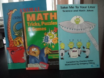 TAKE ME TO YOUR LITER ,MATH, CROSS       SET OF 3