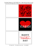 TAKEN Valentine Printable Folding Gift Note Cards