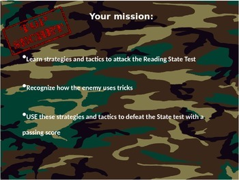 Reading Bootcamp State Test Prep
