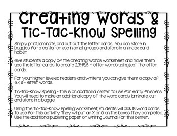 TALES OF A FOURTH GRADE NOTHING: WORD WORK CENTERS