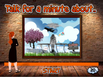 TALK FOR A MINUTE... by describing a picture! (EFL Speaking Practice)
