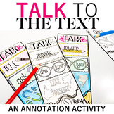 TALK to the Text: Close Reading Annotation Bookmarks for Critical Reading