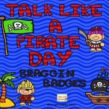 TALK LIKE A PIRATE DAY BRAG TAGS