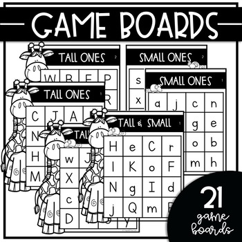 TALL & SMALL ONES {Uppercase, Lowercase & Mixed-Case} BINGO GAMES