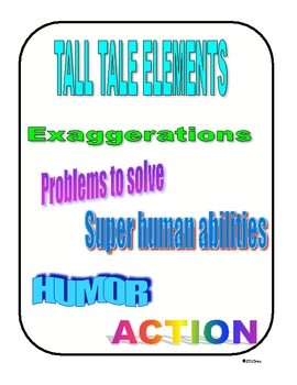 TALL TALES ACTIVITIES