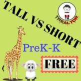 TALL VS SHORT FREEBEE| PRESCHOOL MATH - PREK-K MATH FOR LITTLE LEARNERS|FUN MATH
