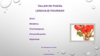 POESIA ppt: Lenguaje Figurado- Simil, Metáfora, Onomatopeya/ Poetry in Spanish.