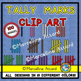 TALLY MARKS CLIPART: MATH CLIPART: SUBITIZING CLIPART