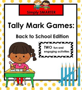 Back to School Themed Tally Mark SMARTBOARD Games