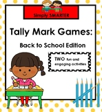 TALLY MARK GAMES:  Back to School Edition