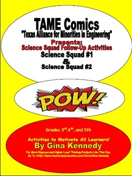 TAME Comics Science Squad #1 & Science Squad #2 Follow-up Activities!
