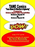 TAME Comics Science Squad #1 & Science Squad #2 Follow-up