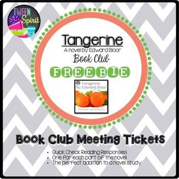 TANGERINE by Edward Bloor Book Club Tickets