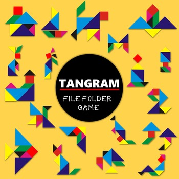 TANGRAM FILE FOLDER GAME {3 sets in 1}