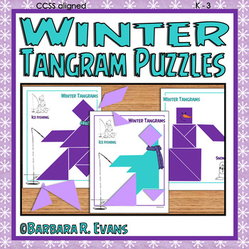 TANGRAMS TANGRAM PUZZLES WINTER Math Center Problem Solving Critical Thinking