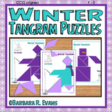 TANGRAM PUZZLES for WINTER Math Center Problem Solving Cri