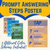 TAP Out the Prompt Poster- Topic, Audience, Purpose Reminder