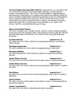 TAPS-3 Evaluation report template-revised