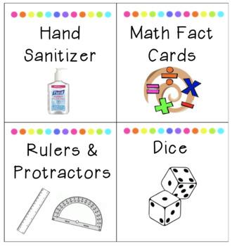 TARGET LABELS Classroom Supplies & Math Manipulatives