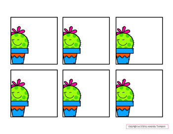 TARGET Adhesive Label Inserts- Cactus Friends *EDITABLE