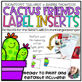 TARGET Adhesive Label Inserts Cactus Friends EDITABLE