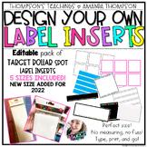 TARGET Adhesive Label Inserts- *EDITABLE*