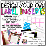 Adhesive Pocket Labels EDITABLE template- Target