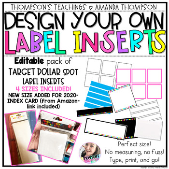 TARGET Label Inserts- *EDITABLE*