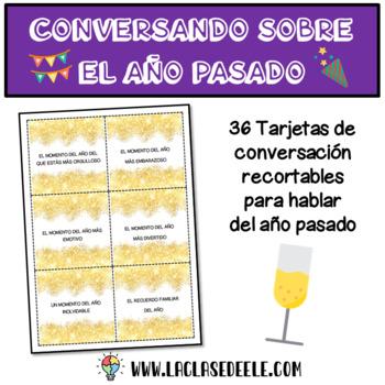 TARJETAS DE CONVERSACIÓN PARA RECORDAR EL AÑO PASADO (AÑO NUEVO)