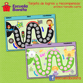 TARJETAS DE LOGROS Y RECOMPENSAS!! (en español)  Behavior chart!!
