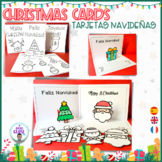 TARJETAS DE NAVIDAD- CHRISTMAS CARDS- POP-UP CARD. English, Spanish, French.