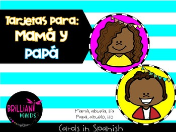 TARJETAS PARA MAMÁ Y PAPÁ / Cards in Spanish for mom and dad